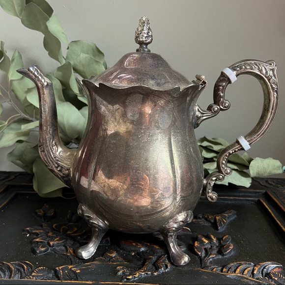 Leonard Silverplated Ornate Tea Pot
